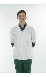 Halat medical - Bluza de barbat din tercot, Model Adrian